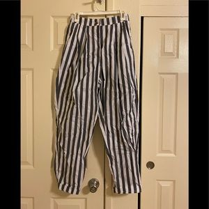 Urban Outfitters Blue Striped High Waisted Pants